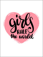 Wall sticker Girls rule the world