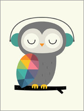 Wall sticker  Owl time - Andy Westface