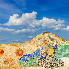 Wall sticker  Mosaic in the Park Güell