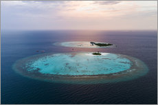 Gallery print  Islands at sunset in the Maldives - Matteo Colombo