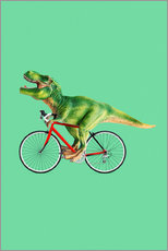 Wall sticker  T-Rex riding a bike - Jonas Loose