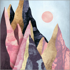 Wall sticker  Mauve Peaks - SpaceFrog Designs