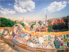 Gallery print  The Park Guell in Barcelona
