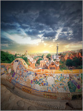 Wall sticker  The famous park Guell in Barcelona