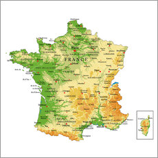 Wall sticker  Map of France