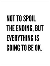 Wall sticker  Not to Spoil the Ending, But Everything is Going to Be Ok - Creative Angel