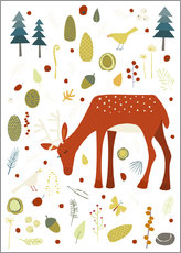 Wall Sticker  Pretty deer in the autumn forest - Nic Squirrell
