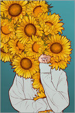 Wall Stickers  Happy Sunflowers - Paola Morpheus