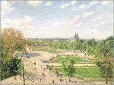 Gallery print  The Garden of the Tuileries on a Spring Morning - Camille Pissarro