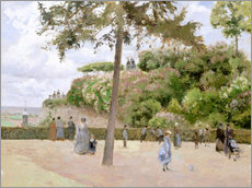 Gallery print  The Garden at Pontoise - Camille Pissarro