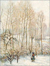 Wall sticker  Morning Sunlight on the Snow - Camille Pissarro
