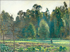 Gallery print  The cabbage field, Pontoise - Camille Pissarro