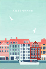 Premium poster Copenhagen Illustration