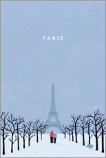 Wall sticker  Illustration of Paris - Katinka Reinke