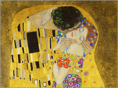 Wall sticker  The kiss (detail) - Gustav Klimt