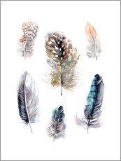 Wall Stickers  Feathers collection - Verbrugge Watercolor