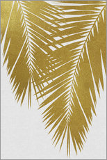 Wall sticker  Palm Leaf Gold II - Orara Studio