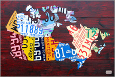Wall sticker  License Plate Map of Canada - Design Turnpike