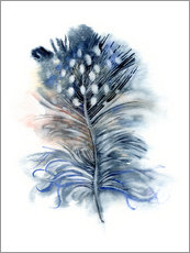 Wall sticker  Feather blue - Verbrugge Watercolor