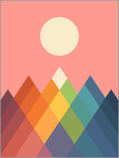 Wall sticker  Rainbow Peak - Andy Westface