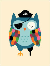 Wall sticker  Captain Whooo - Andy Westface
