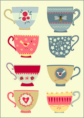 Gallery print  Pretty teacups - Nic Squirrell