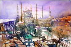 Wall sticker Istanbul, view to the blue mosque