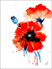 Wall sticker Poppy Red