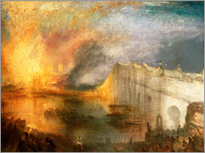 Wall sticker  The Burning of the Houses of Lords and Commons - Joseph Mallord William Turner