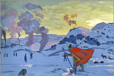 Gallery print  The signal fires of peace - Nicholas Roerich