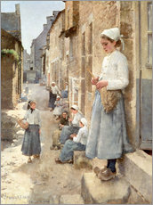 Wall sticker  A Street in Brittany - Stanhope Alexander Forbes