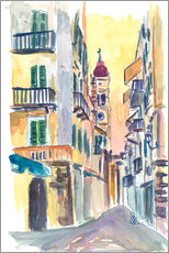 Gallery print  Marvellous Corfu Streets in Greece - M. Bleichner