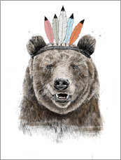Wall sticker Bear chief