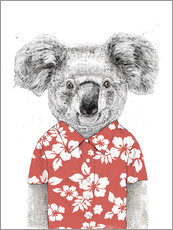 Wall sticker  Koala Bear with Hawaiian Shirt - Balazs Solti