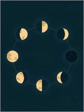 Wall sticker Moon phases