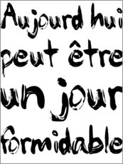 Wall sticker  Today, maybe a fabulous day (French) - Typobox
