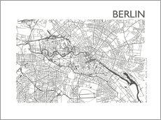 Gallery print  City map of Berlin - 44spaces