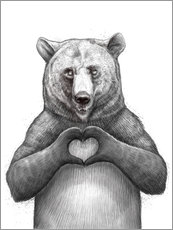 Wall sticker  Bear with heart - Nikita Korenkov