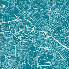 Wall sticker  City map of Berlin - 44spaces