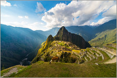 Wall sticker  Sun rays over Machu Picchu, Peru - Fabio Lamanna