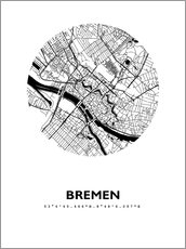 Wall sticker  City map of Bremen - 44spaces