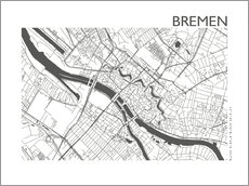 Wall Stickers  City map of Bremen - 44spaces