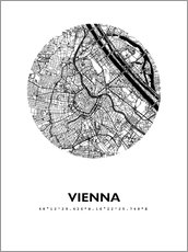 Wall sticker  City map of Vienna - 44spaces