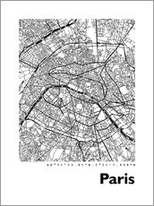 Gallery print  Map of Paris - 44spaces