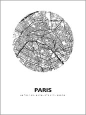 Wall sticker  Map of Paris - 44spaces