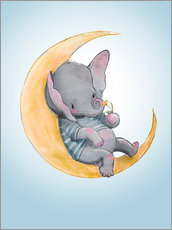 Gallery print  Elephant in the moon - Kidz Collection