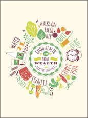 Wall sticker  Live healthy