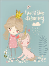 Wall sticker  Never stop dreaming - Kidz Collection