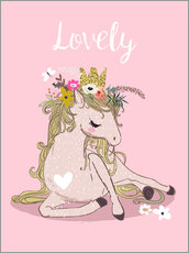 Gallery print  My heart for horses - Eve Farb