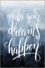 Wall sticker  Make your dreams happen - Typobox